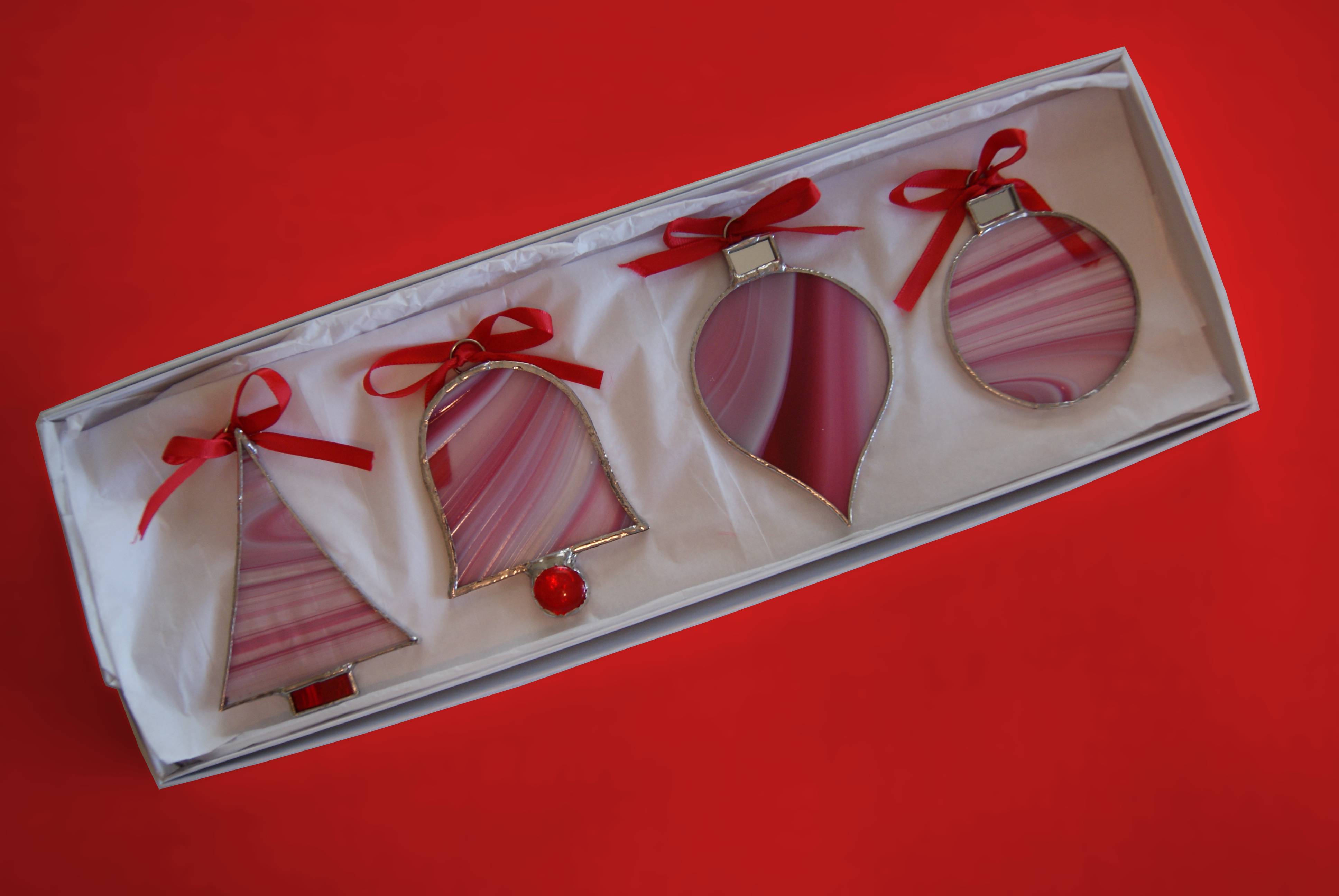 2015 Holiday Ornaments - Red Set
